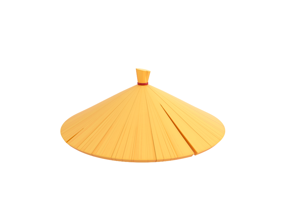 Chinese Conical Hat Bariacg Uvs 3d Model Chinese