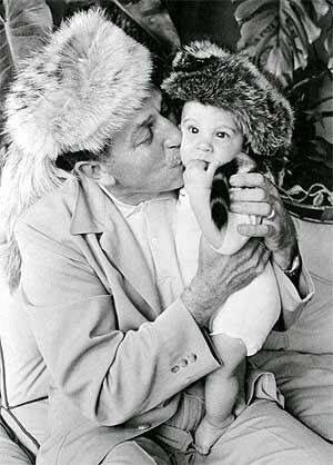 Walt and grandson Christopher Disney Miller