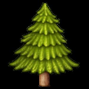 Evergreen Tree Tree Emoji Emoji Graphic Design Art