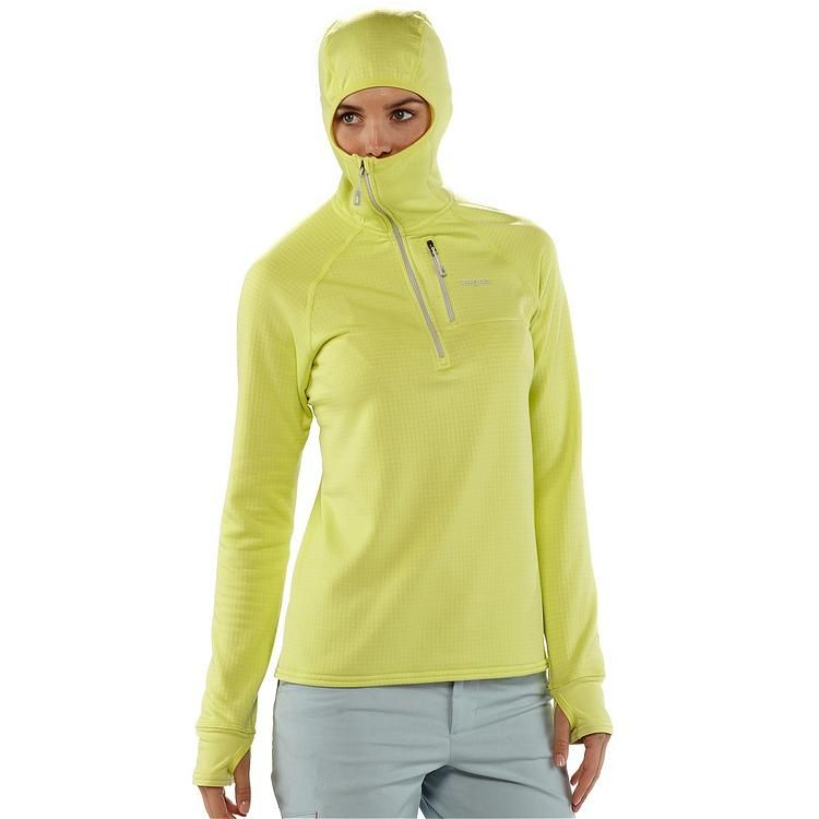 PATAGONIA WOMEN'S R1® FLEECE HOODY - comes in black and mayan yellow