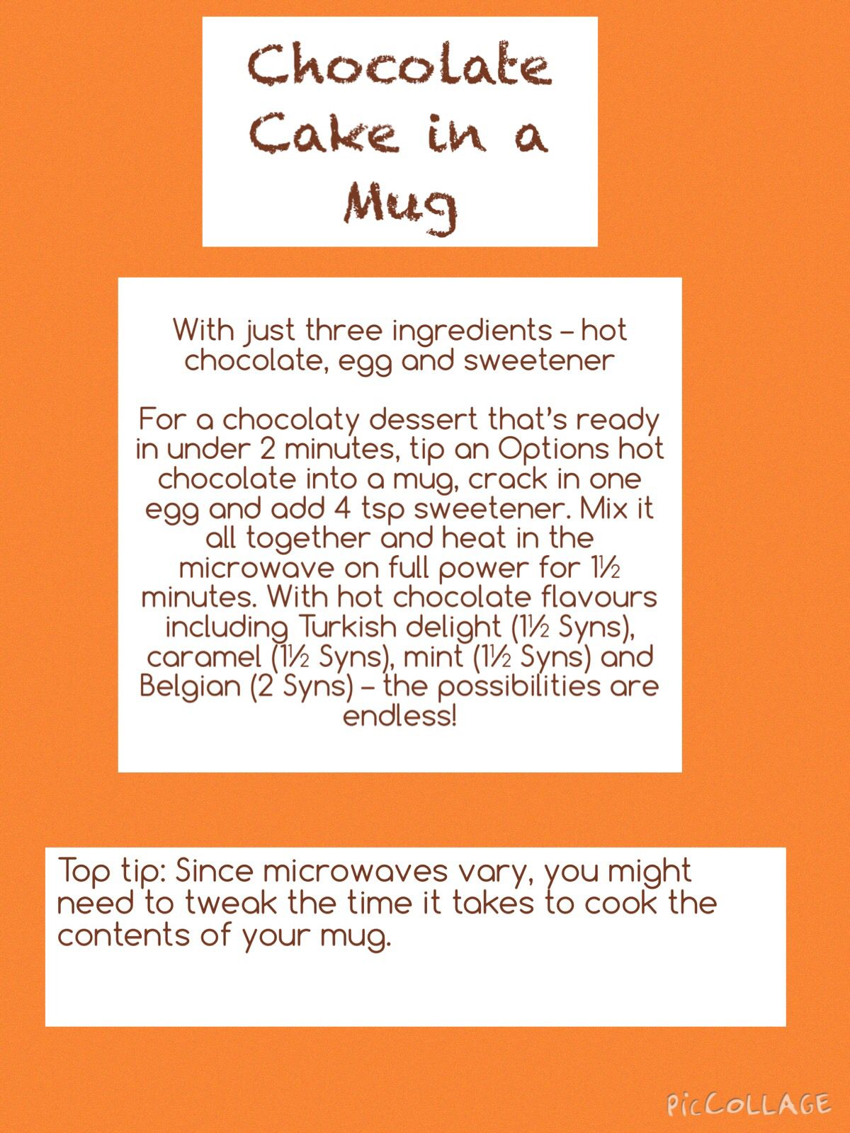 Chocolate Cake In A Mug Slimming World Slimming World