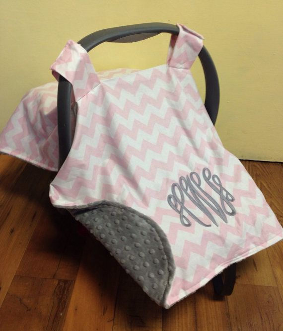 baby infant car seat carrier handle cushion baby pink minky all