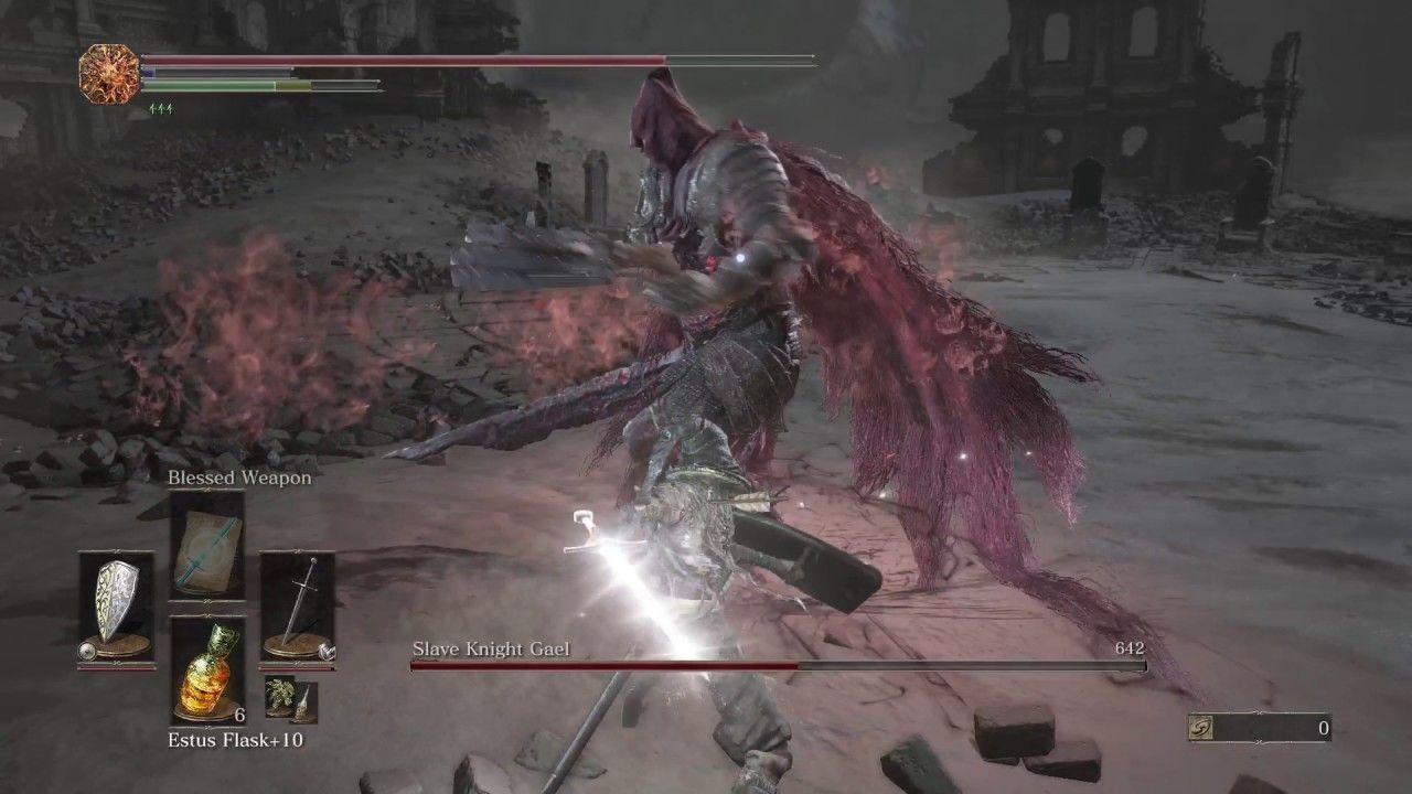 Slave Knight Gael Boss Fight SL85 - Dark Souls 3 | Dark