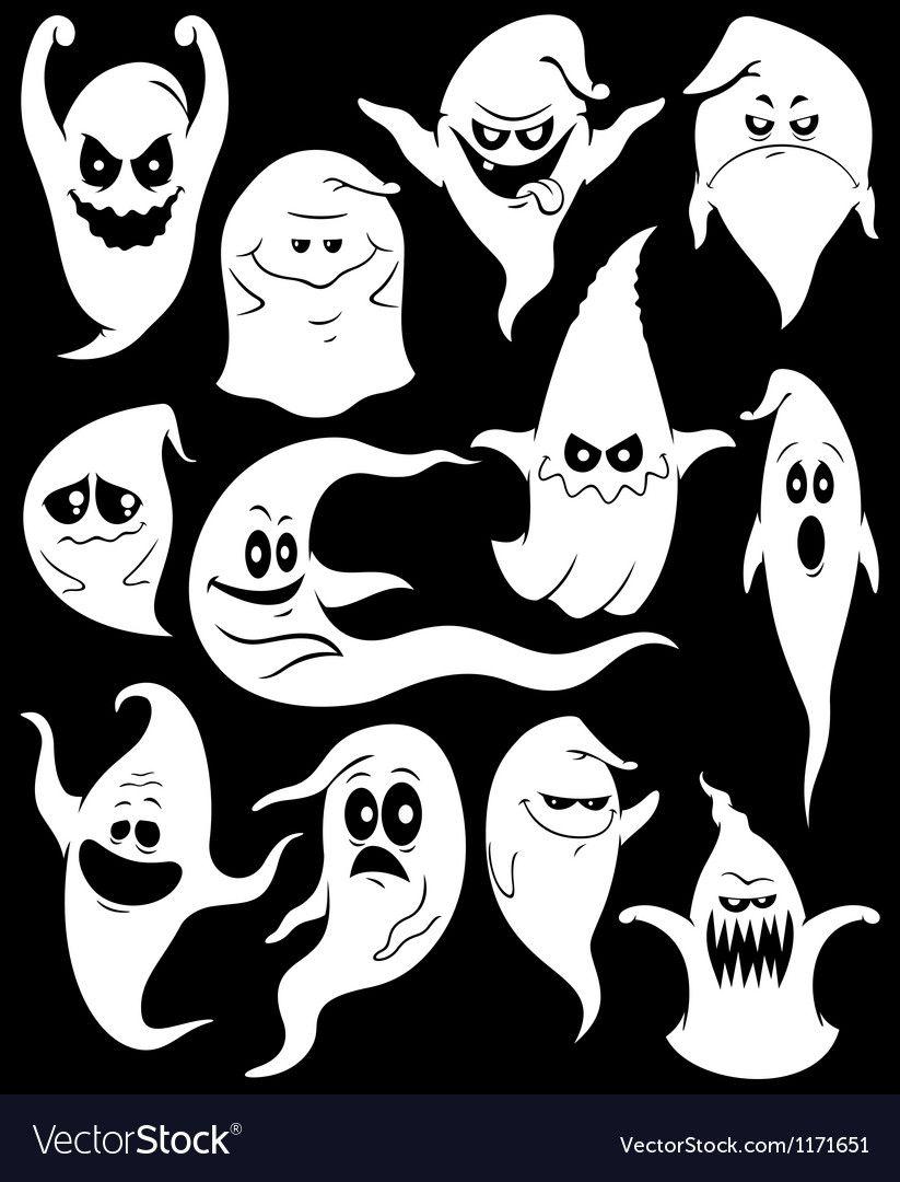 Ghosts Royalty Free Vector Image VectorStock , AD,