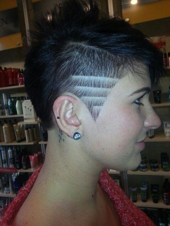 Pin By Marquel Layton On Cute Thangs 3 Half Shaved Hair Hair Tattoos Hair Styles
