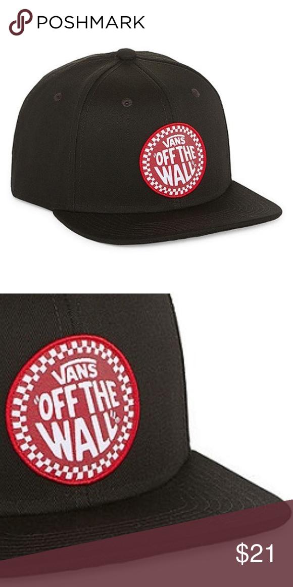 f4891632410 VANS OFF THE WALL Baseball Cap Black Snap Back VANS Black
