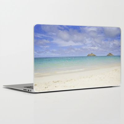 Lanikai Beach Laptop & iPad Skin by Sparrow House Photography - $30.00