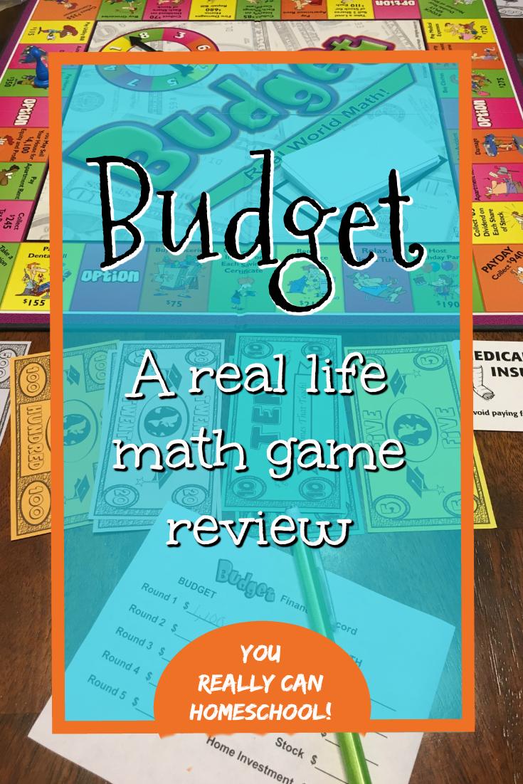 Budget: A Real World Math Game Review   Homeschool Math   Pinterest ...