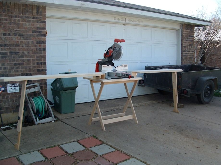 Portable Chopsaw Stand Wooden Miter Saw Thisiscarpentry