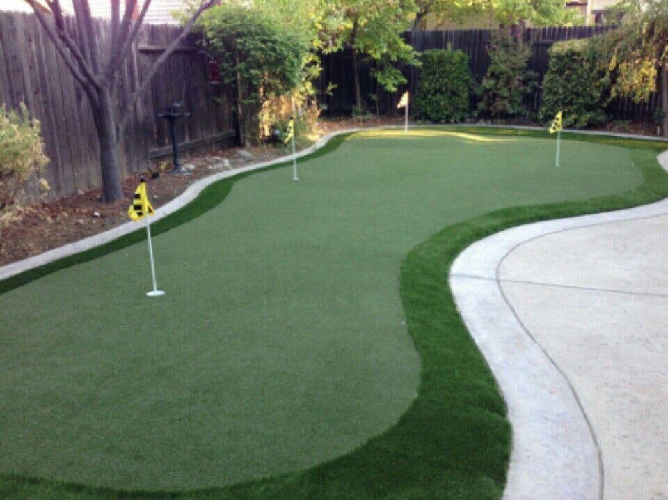 Pin by Izza on Design Golf Putting Green   Backyard ...