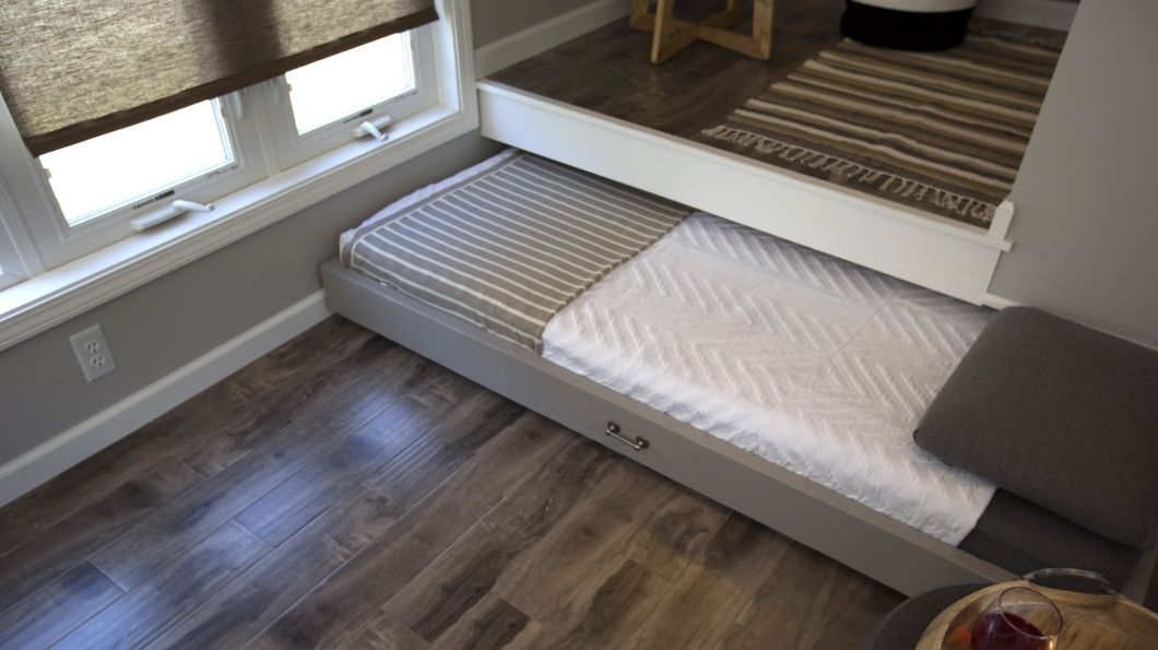 Tim And Shannon S Tiny House The Bed Slides Out For