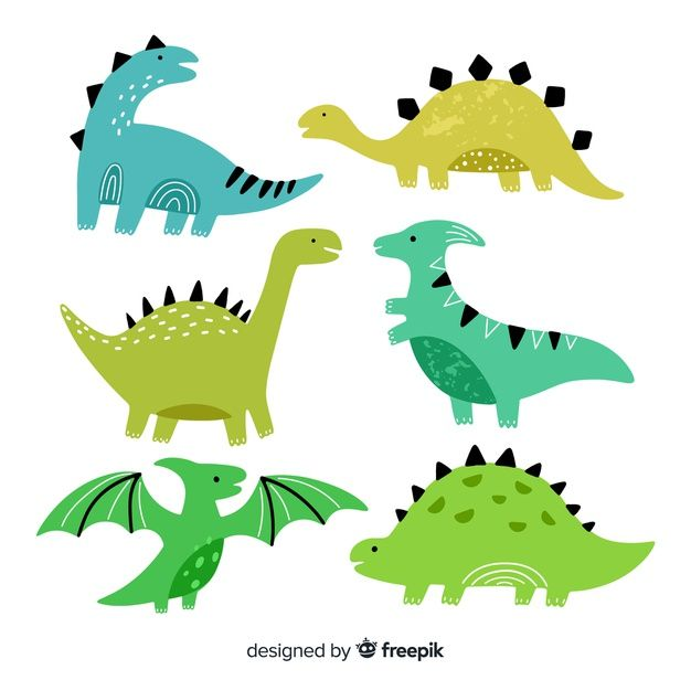 Download Hand Drawn Dinosaur Collection for free