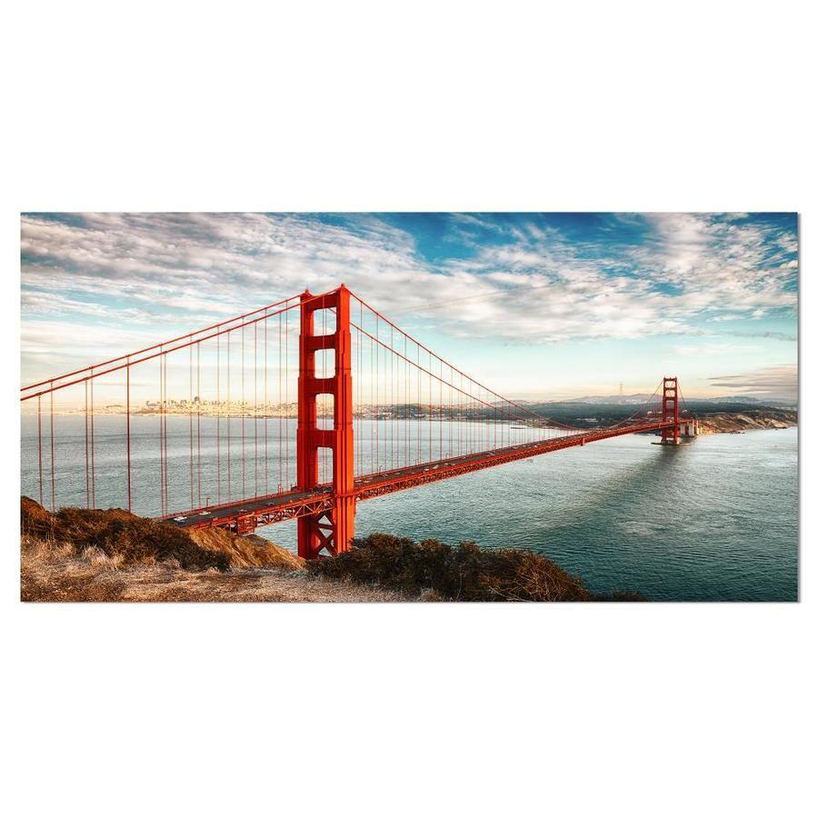 Designart Golden Gate Bridge In San Francisco Large Sea Bridge Canvas Art Print Lowes Com Golden Gate Bridge San Francisco Wall Art Bridge Canvas