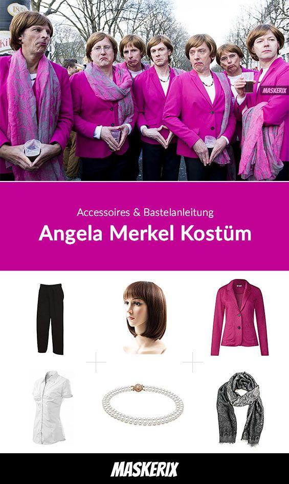 Angela Merkel Kostüm für Gruppen selber machen