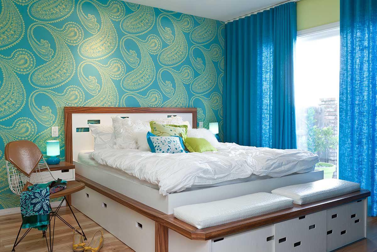 Blue And Lime Green Color Scheme Bedroom Design Ideas