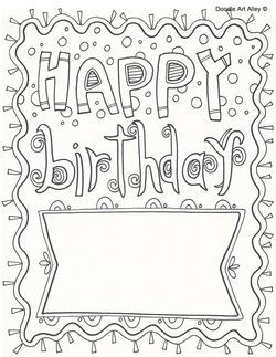 picture  birthday coloring pages coloring pages birthday cards to print