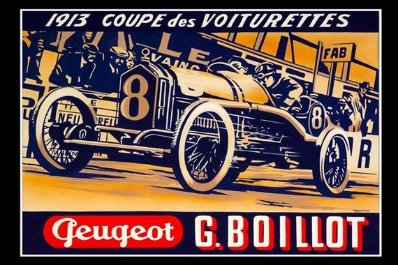 Peugot and Coupe des Voiturettes 1913 by Robert Carter