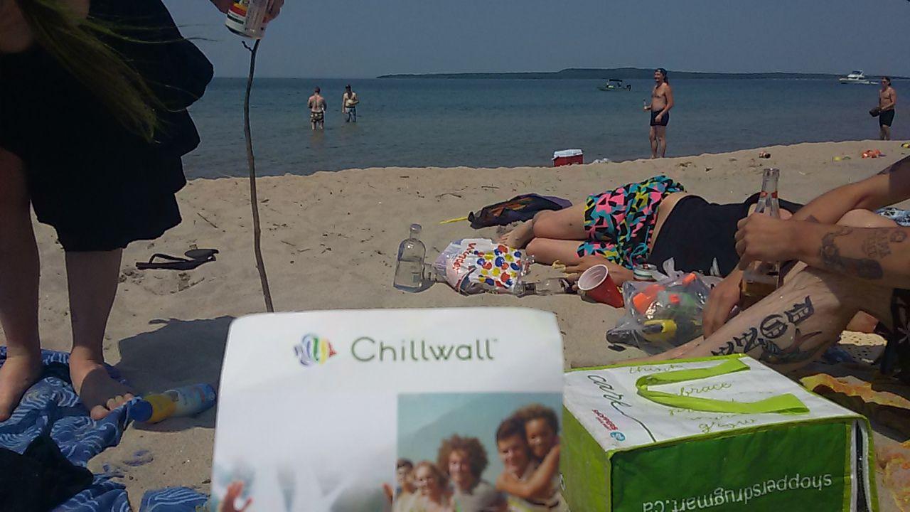 Sun beach friends summer