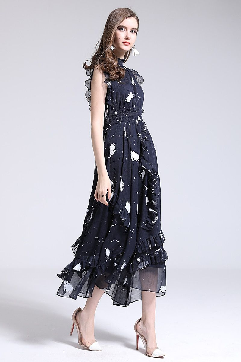 d217cfa8ea5f3 Long Dress High Quality Spring Summer New Women'S Party Fashion ...
