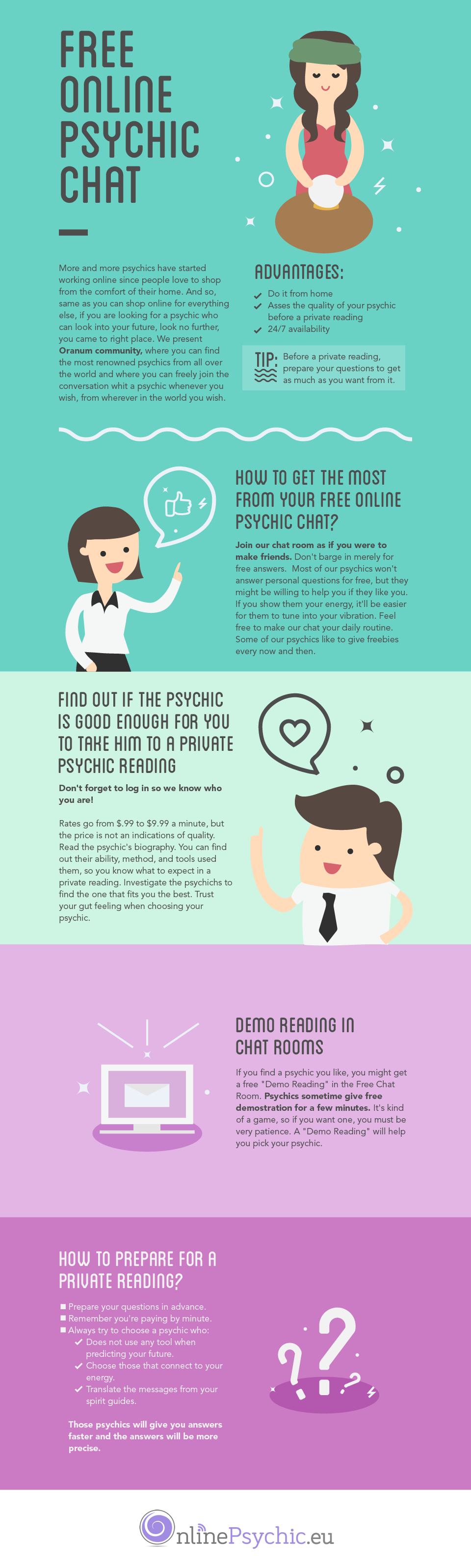 Infographic] How to Get Free Psychic Reading | Spirituality it is ...