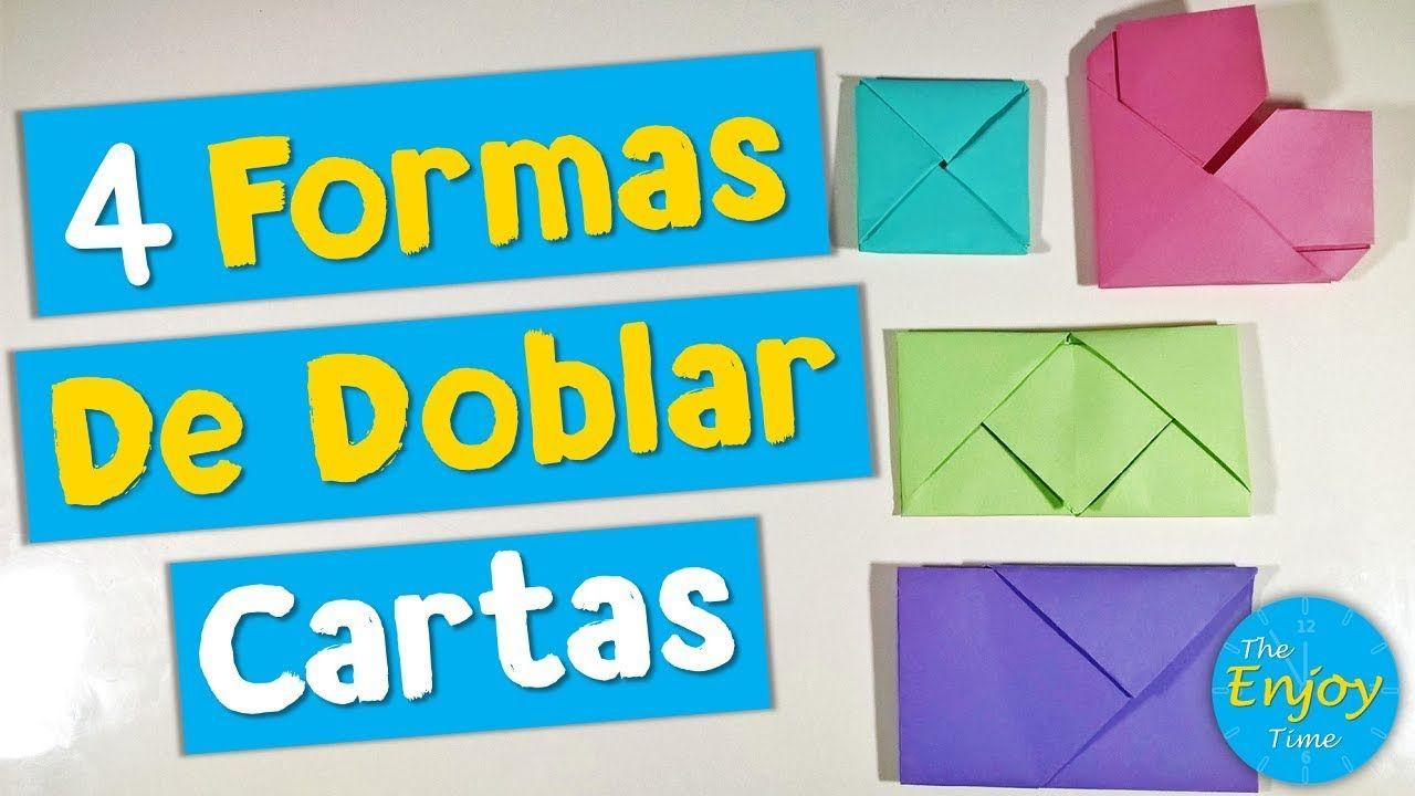 4 Formas De Doblar Cartas Diy Doblar Cartas Formas De Cartas Cartas