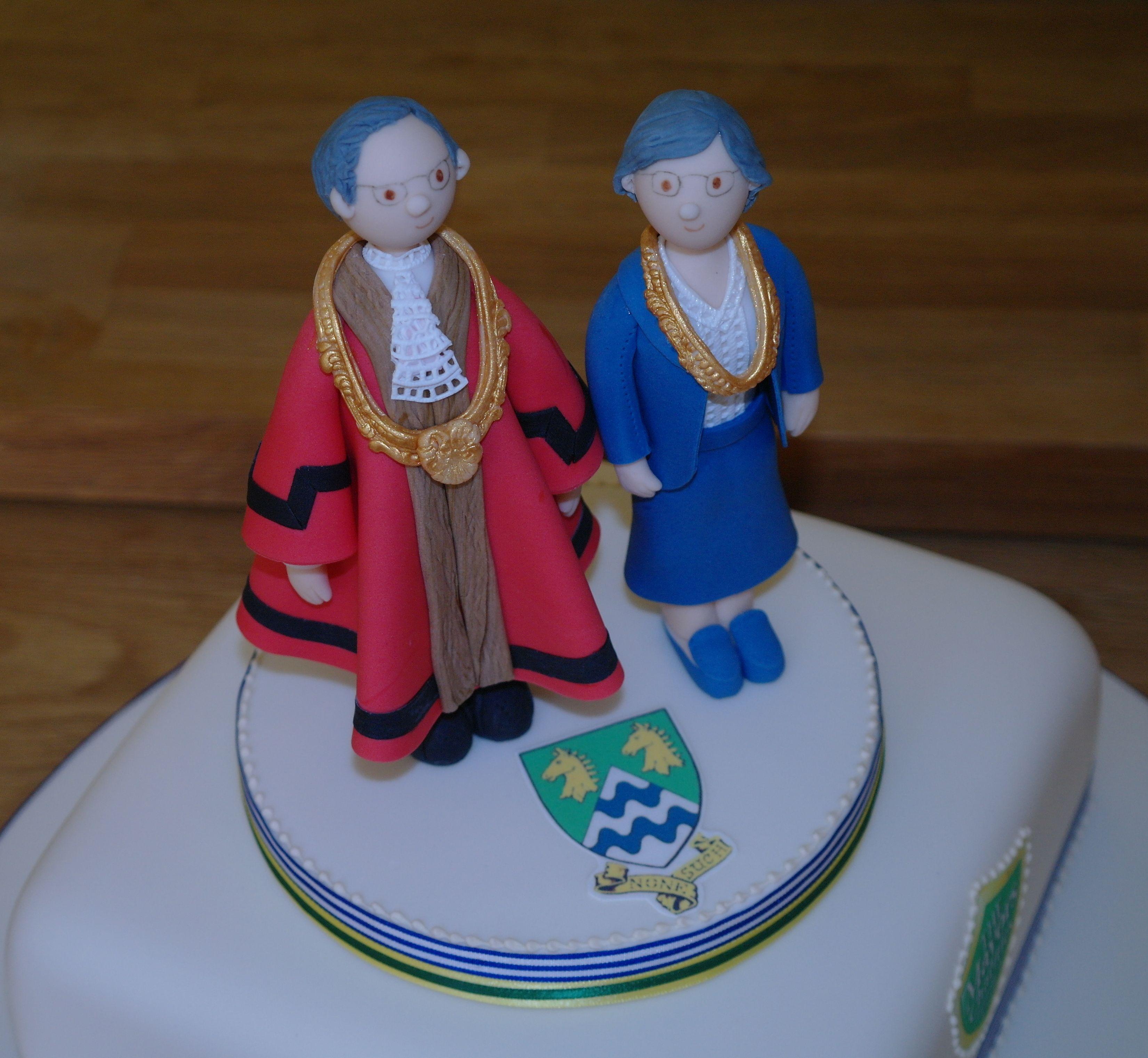 Mayor & Mayoress cake topper
