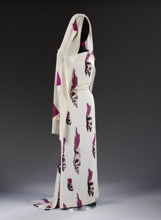 Elsa Schiaparelli Tear Dress  With Salvador Dali