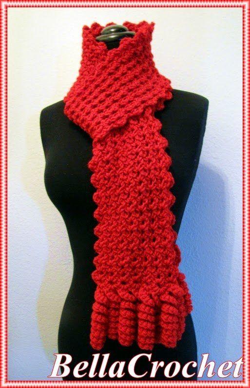 patrón bufanda de ganchillo | mane | Pinterest | Bufandas de ...