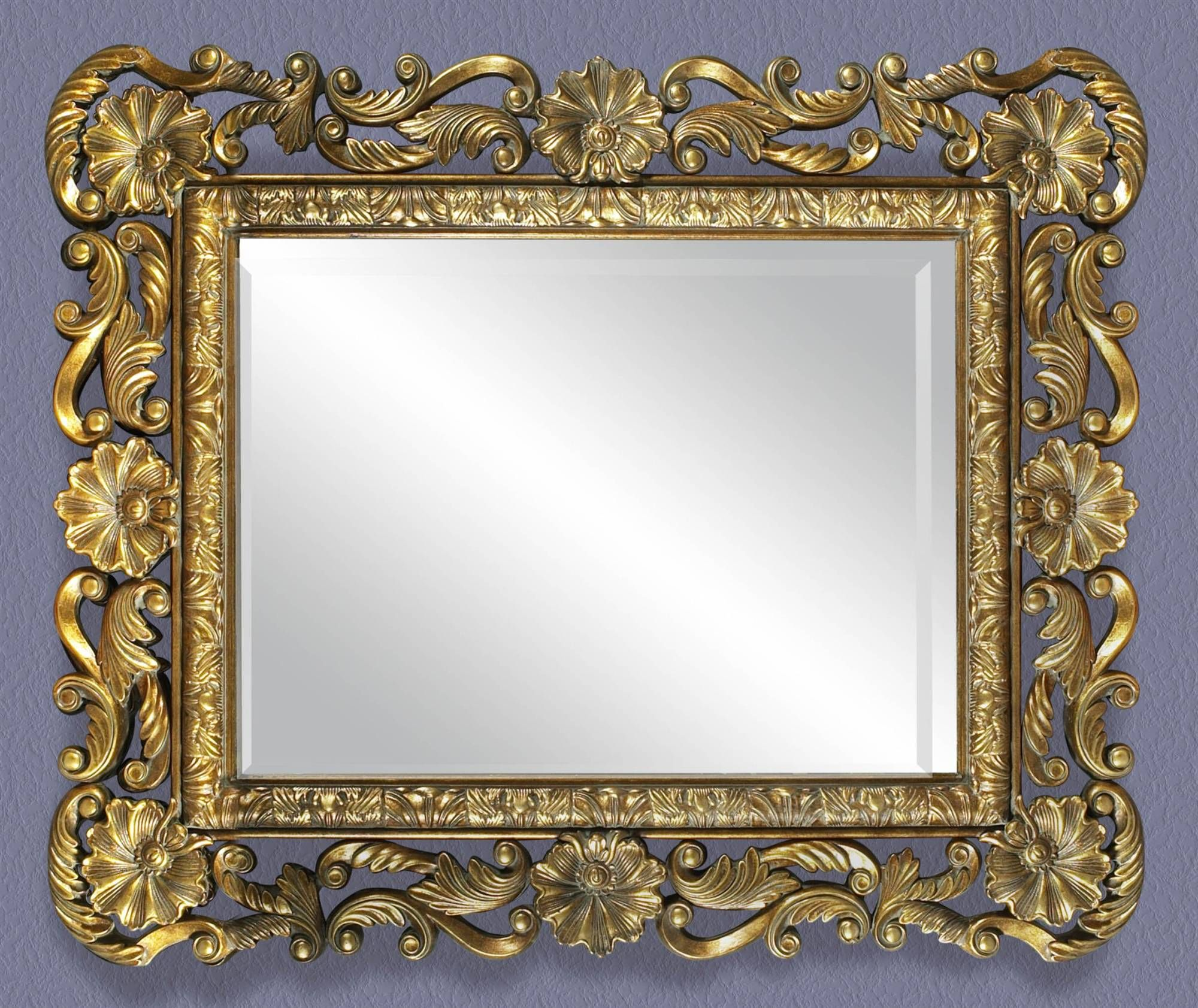 Antique Frame Picture Vintage Floral | ... Mirror with Antique ...