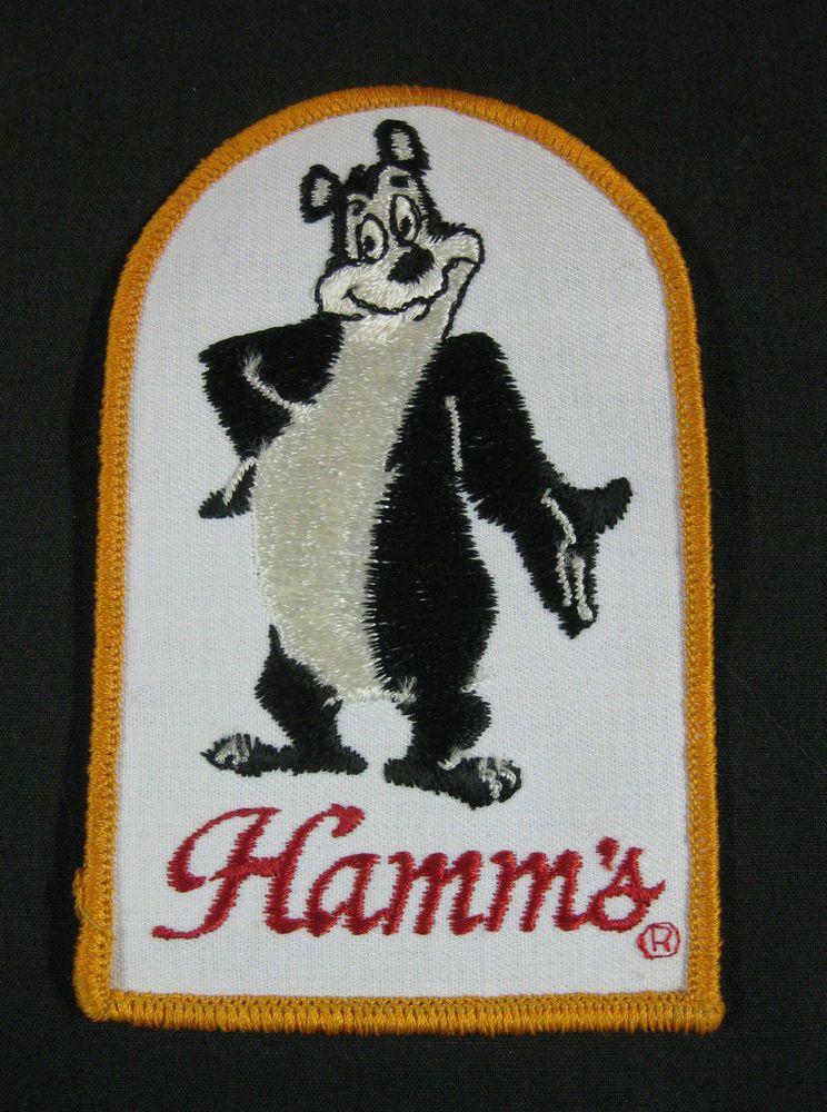 Vintage Old Hamms Bear Beer Brew Jacket Shirt Patch 5