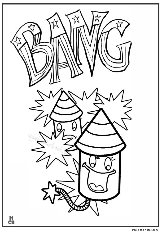 Pin de Magic Color Book en Fireworks Coloring pages | Pinterest