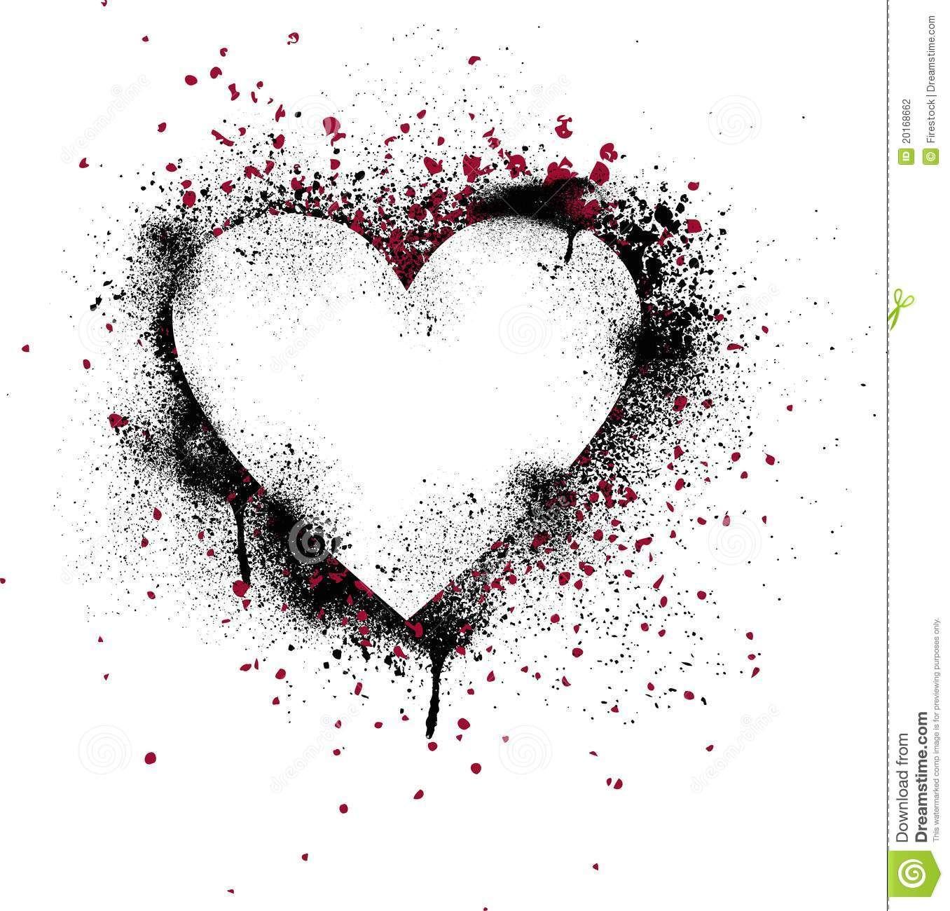 Photo of Grunge Paint Splatter Heart Stock Vector – Illustration of heart, paint: 20168662