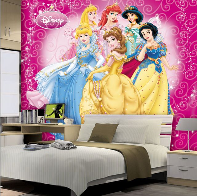 Beautiful Princesses Girls Kids Wallpaper 3D Photo Wallpaper Custom Wall  Murals Cartoon Interior Bedroom Nursery Room
