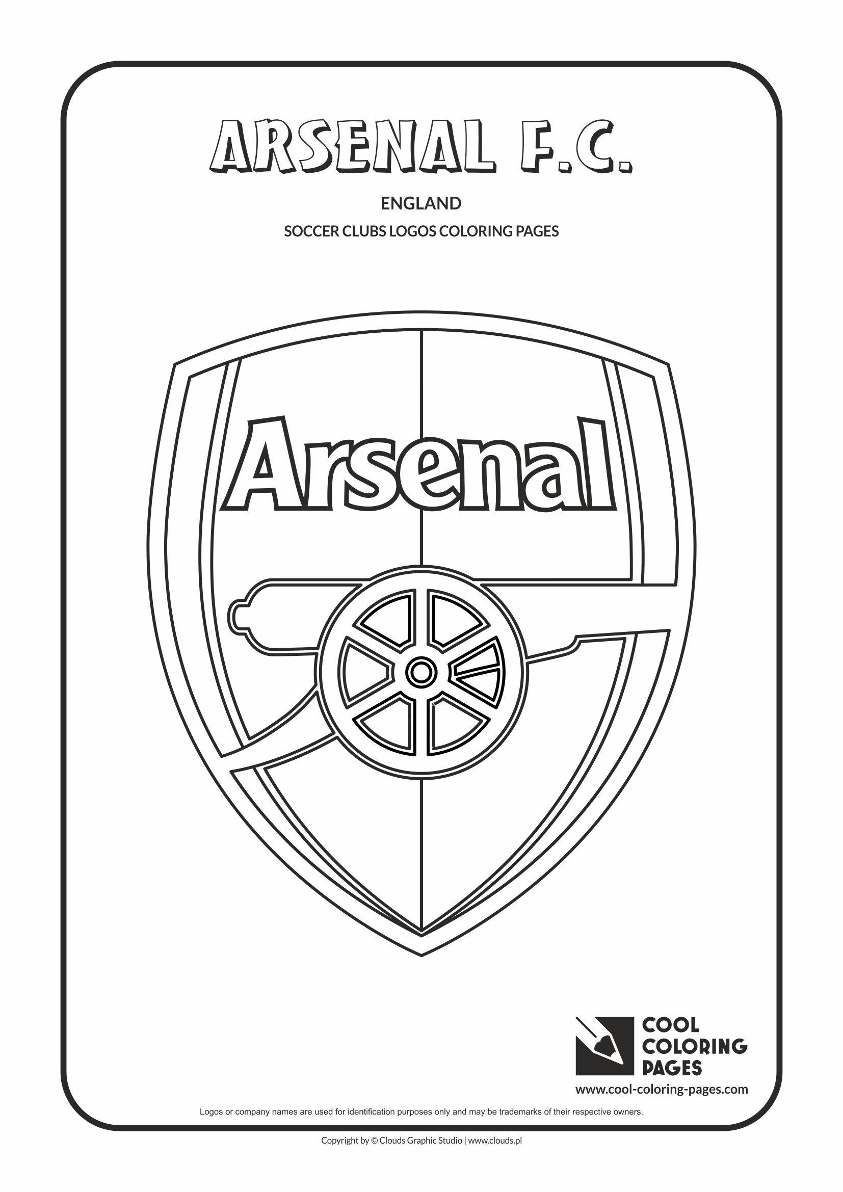 Arsenal F C Logo Coloring Page Cool Coloring Pages Coloring Pages Football Logo