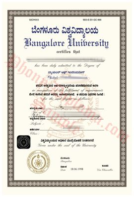 Bangalore university india httpphonydiplomadepartments fake collegeuniversity diploma degree transcripts certificates samples from india fandeluxe Image collections