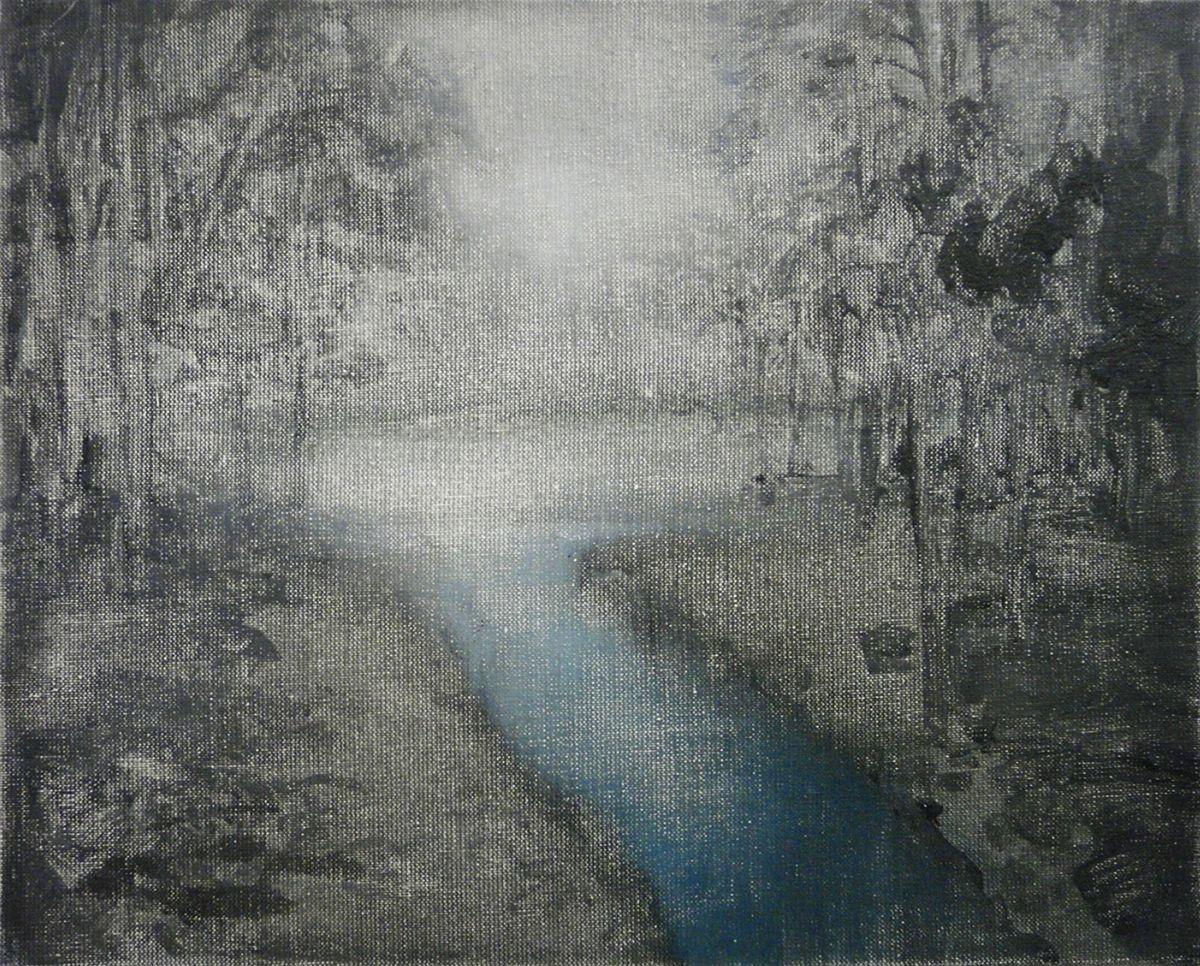 """Mykolé, """"Park 2"""", 2012, 33 x 41 cm, Oil, canvas. Contemporary landscape paintings."""