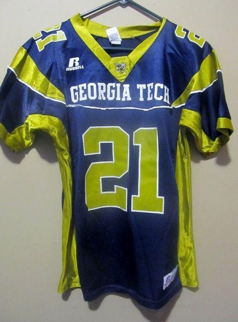 best cheap 769bc ff122 Calvin Johnson , Georgia Tech Yellow #21 Football jersey ...