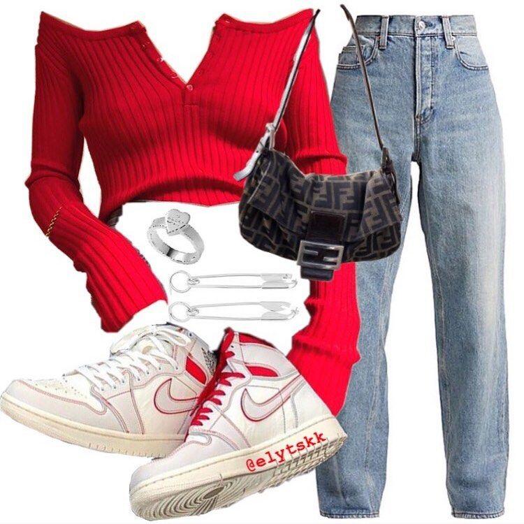 "VIRTUAL STYLIST on Instagram: ""️ - #streetwearfashion #streetwear #virtualstylist #virtualstyling #red #nike"""