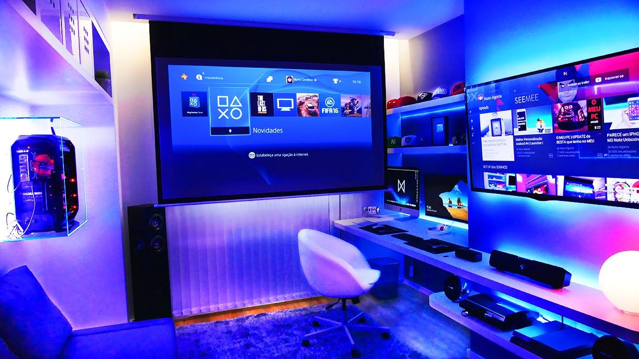 Insane youtuber gaming setup setup spotlight youtube - Ordinateur de bureau configuration sur mesure ...