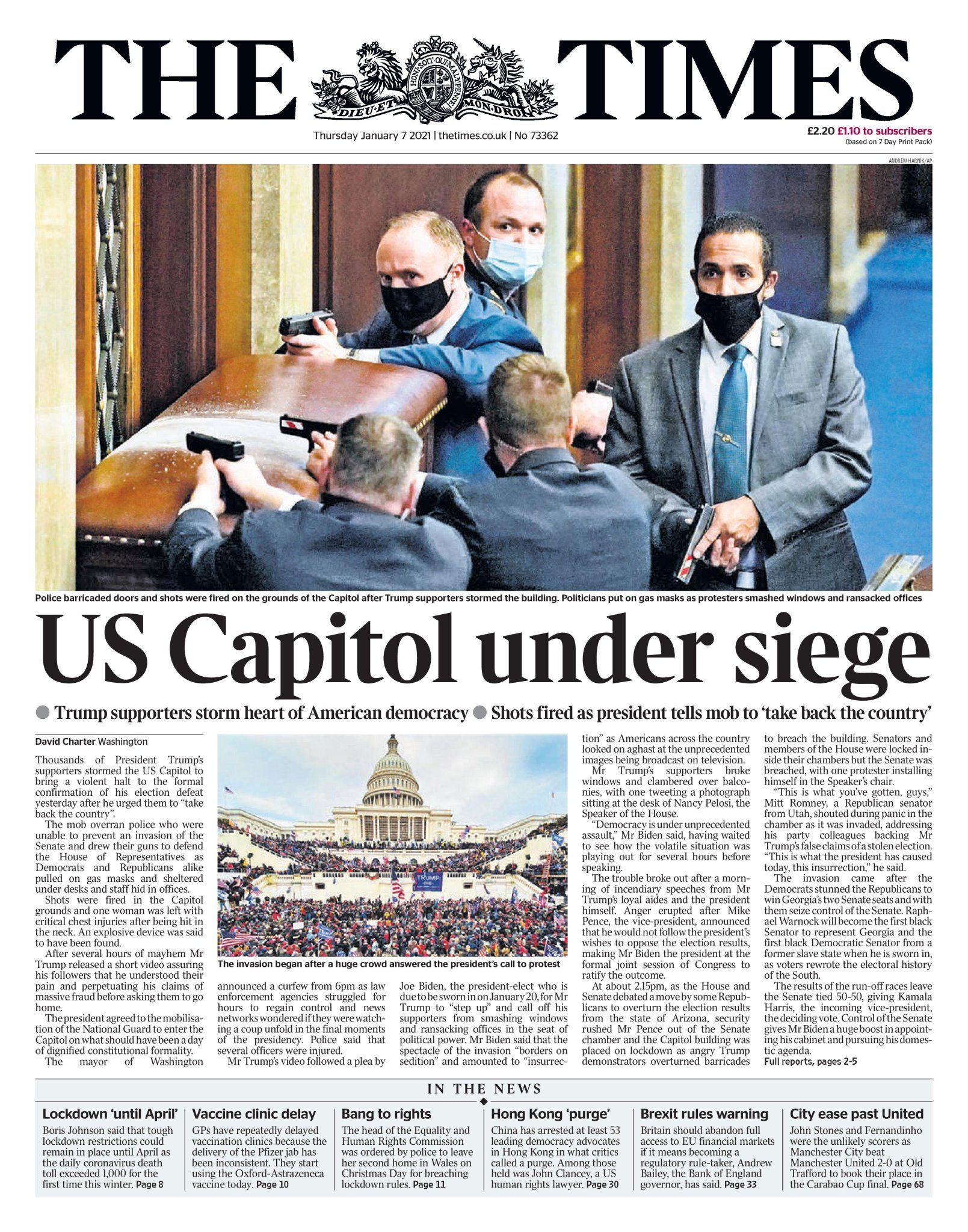 Thomas Danielian On Twitter In 2021 Newspaper Headlines Us Capitol Newspaper Cover