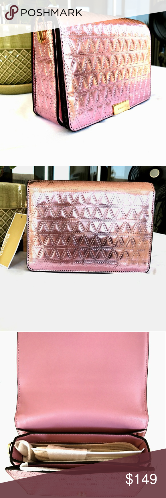 ca7ef4e2773d Michael Kors MD  Jade  Gusset Clutch in Soft Pink 🔥 CLEARANCE SPECIAL 🔥  This