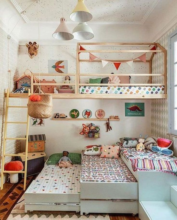 30+ Inspiring Shared Kids Room Ideas For Twins #kidsroom
