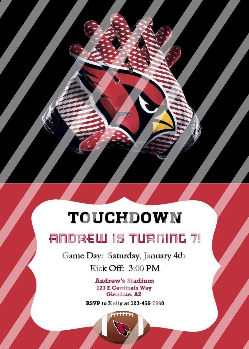 Arizona Cardinals Personalized Party Invitation #39 (digital file ...