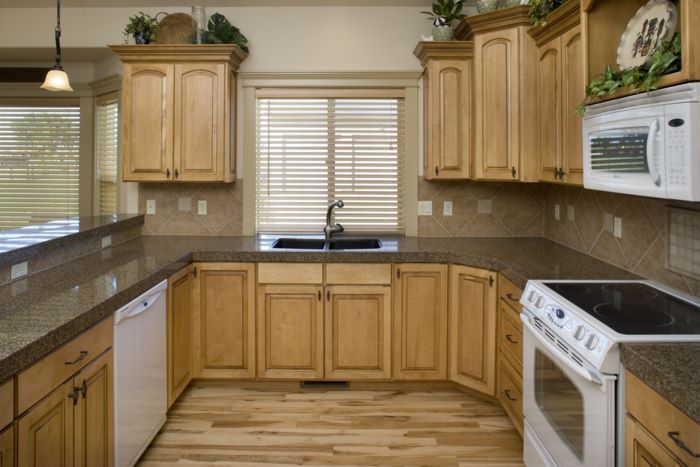 kitchen pictures with maple cabinets...concrete counter ... on What Color Backsplash With Maple Cabinets  id=71015