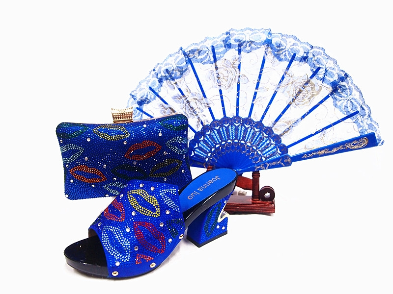 63.75$  Watch now - http://ali6pq.worldwells.pw/go.php?t=32788874447 - Italian Shoes With Matching Bags Italian Sandal High Heels Shoes And Bags For African Party Shoe And Bag Set To Match JA105 63.75$