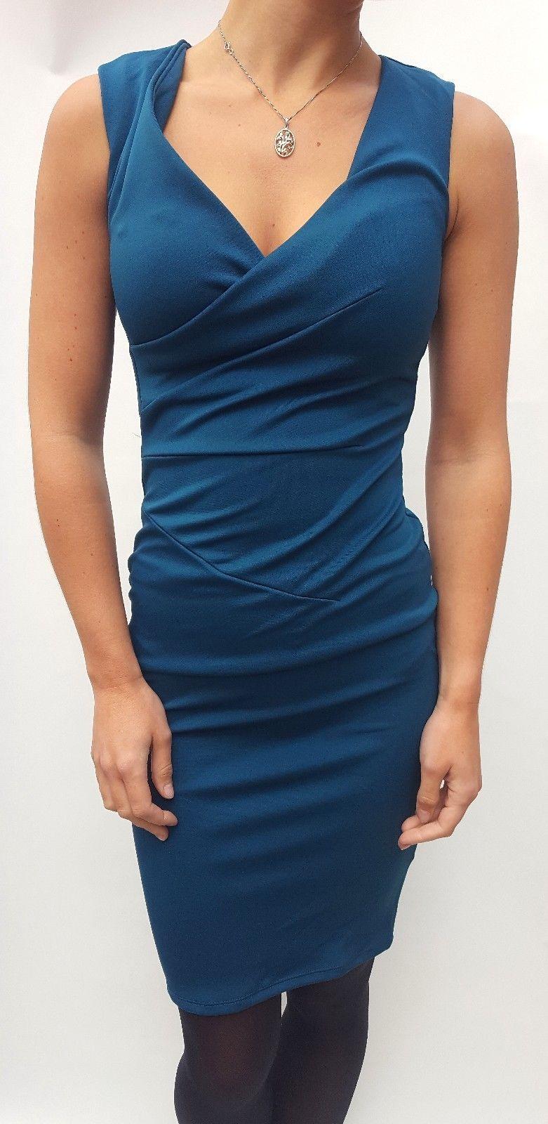 Lipsy bluegreen plunge neck dress uk sizes products