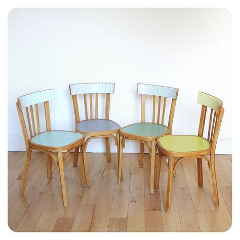 4 Chaises Bistrot Relooking De Mobilier Relooking Meuble Chaise Bistrot