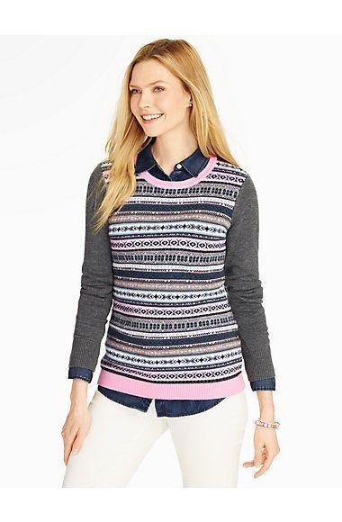 Talbots - Fair Isle Stripe Sweater   Pullovers     Street chic ...