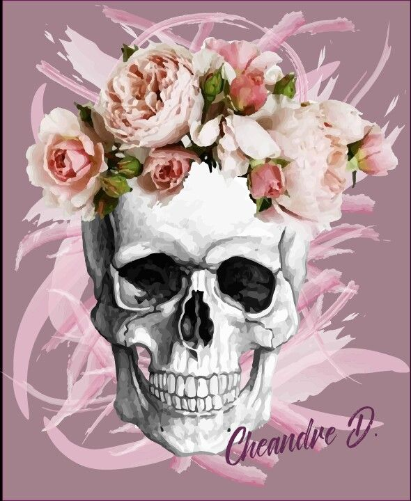 Permalink to Skull With A Flower Crown Wallpaper