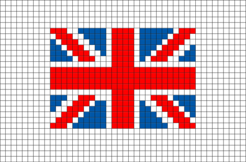 flag of united kingdom great britain pixel art brik pixel art designs pinterest pixel. Black Bedroom Furniture Sets. Home Design Ideas